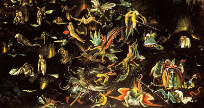 Judgment Day Painting - The Last Judgment, Fragment by Hieronymus Bosch