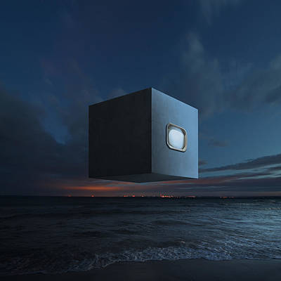 Shore Digital Art - The Last Known Photograph Of God V2 by Michal Karcz