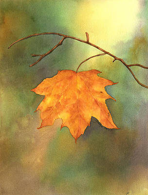 The Last Leaf Art Print by Gladys Folkers