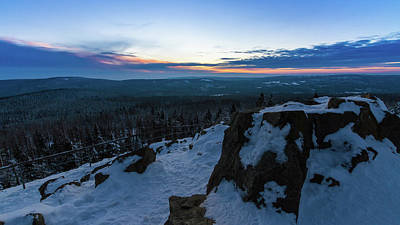 Photograph - the last light of the day in the Harz mountains by Andreas Levi