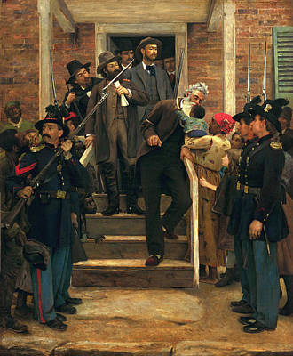 African-american Painting - The Last Moments Of John Brown by Thomas Holvenden