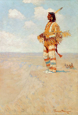 Painting - The Last Of His Race - The Vanishing American by Frederic Remington