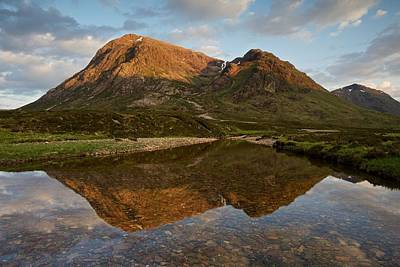 Photograph - The Last Of The Evening Light In Glencoe by Stephen Taylor