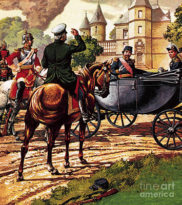 Franco-prussian War Painting - The Last Of The French Kings by Pat Nicolle