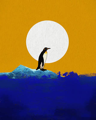 Climate Change Painting - The Last Penguin by Dan Sproul