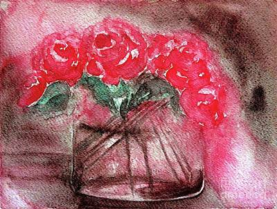 The Last Red Roses Art Print