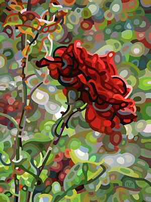 Painting - The Last Rose Of Summer by Mandy Budan