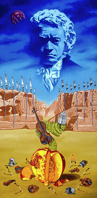 Painting - The Last Soldier An Ode To Beethoven by Paxton Mobley