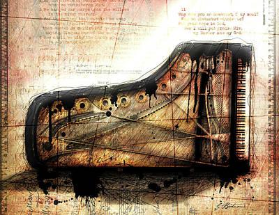 Grand Piano Wall Art - Digital Art - The Last Sonata by Gary Bodnar