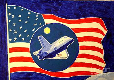 Painting - The Last Space Shuttle by Bill Hubbard