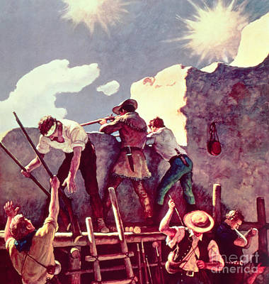 The Alamo Painting - The Last Stand At The Alamo by Newell Convers Wyeth