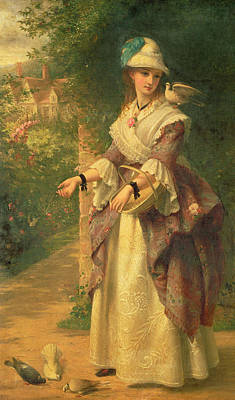Dove Painting - The Last Summer Days by Thomas Brooks