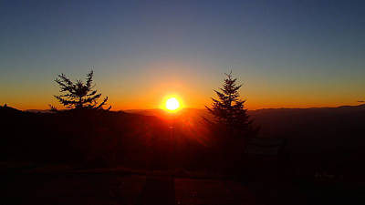 Photograph - The Last Sunset From The Blue Ridge by Becky Erickson