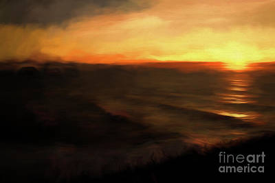 Photograph - The Last Sunset Pacific Ocean by Jon Burch Photography