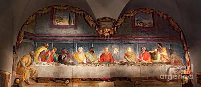 Photograph - The Last Supper. Fresco In Church Santa Maria Del Carmine, Florence  by Svetlana Batalina