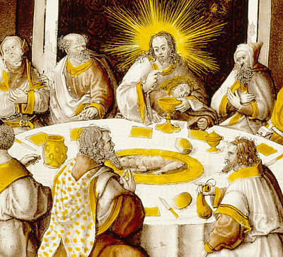 Rays Painting - The Last Supper by Jacob Cornelisz van Oostsanen
