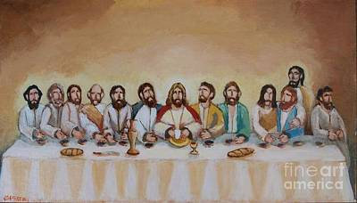 Painting - The Last Supper by Jean Pierre Bergoeing
