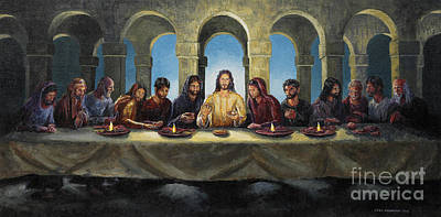 Painting - The Last Supper by Joey Agbayani