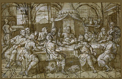 Drawing - The Last Supper by Pomponio Amalteo