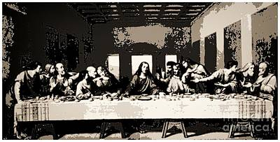 Mechelen Painting - The Last Supper by RJ Aguilar