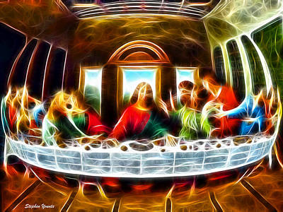 Dinner Digital Art - The Last Supper by Stephen Younts