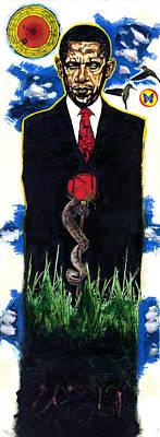 The Last Temptation Of Barack Hussein Obama Art Print by Vernell Garrett