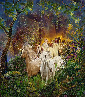 Painting - The Last Unicorns by Steve Roberts