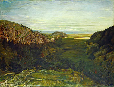 Painting - The Last Valley. Paradise Rocks by John LaFarge