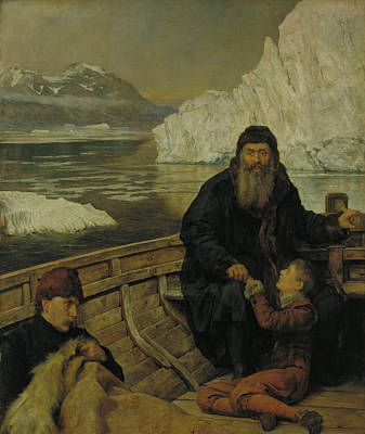 Collier Painting - The Last Voyage Of Henry Hudson by John Collier