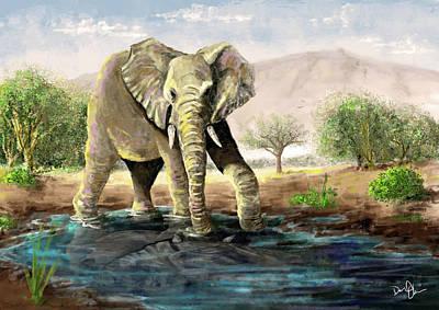 Digital Art - The Last Watering Hole by Don Olea