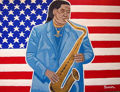 The Late Great Clarence Clemons Original by Eamon Reilly