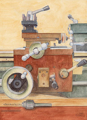 The Lathe Art Print by Ken Powers