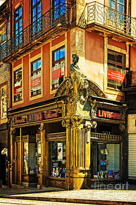 Bookshop Photograph - The Latina Editora Livraria In Porto-portugal by Mary Machare