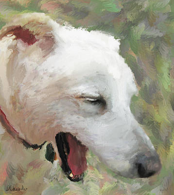 Labrador Digital Art - The Laughing Dog by Diane Chandler