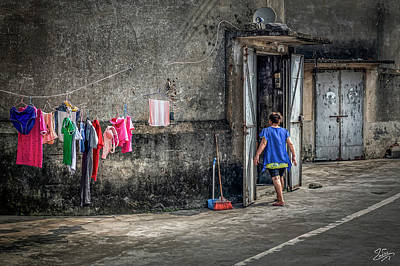 Photograph - The Laundry Isn't Dry Yet by Endre Balogh