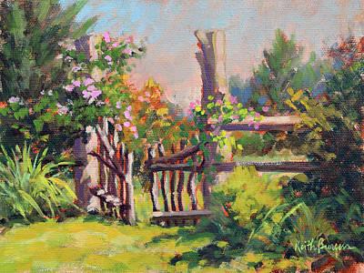 Laurel Ridge Farm Painting - The Laurel Gate by Keith Burgess