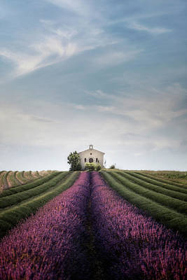 France Provence Photograph - The Lavender Chapel by Joana Kruse