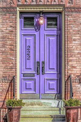 Old House Photograph - The Lavender Door by Jon Woodhams