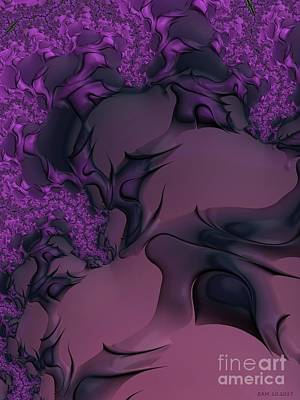 Digital Art - The Lavender Forest 3 by Elizabeth McTaggart