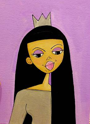 Painting - The Lavender Queen by Deborah Carrie