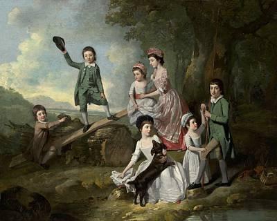 Tresses Painting - The Lavie Children by Johann Zoffany