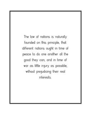 Digital Art - The Law Of Nations Is... by Famous Quotes