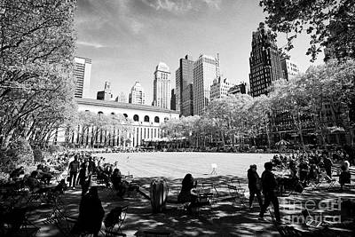 Bryant Park New York Photograph - the lawn at bryant park New York City USA by Joe Fox
