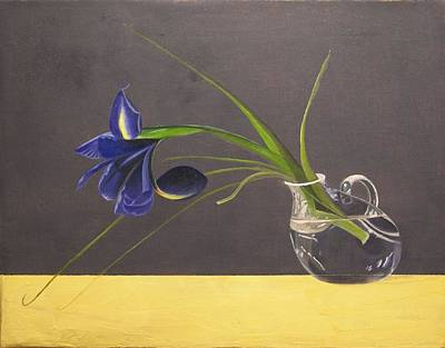 Painting - The Leaning Flower by Kathy Lumsden