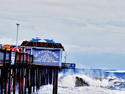 Photograph - The Leaning Pier by Kelly Reber