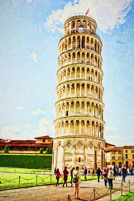 Photograph - The Leaning Tower by The Art House