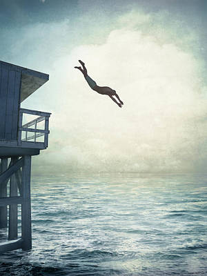 Digital Art - The Leap by Cynthia Decker