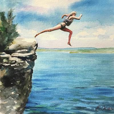 Painting - The Leap by Emily Olson
