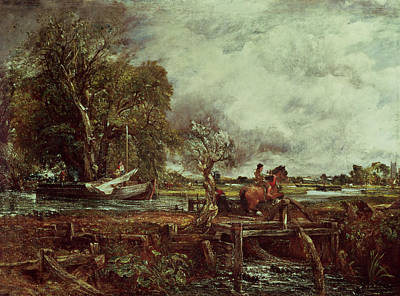 John Constable Painting - The Leaping Horse by John Constable