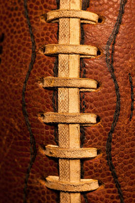 Footballs Closeup Photograph - The Leather Football by David Patterson
